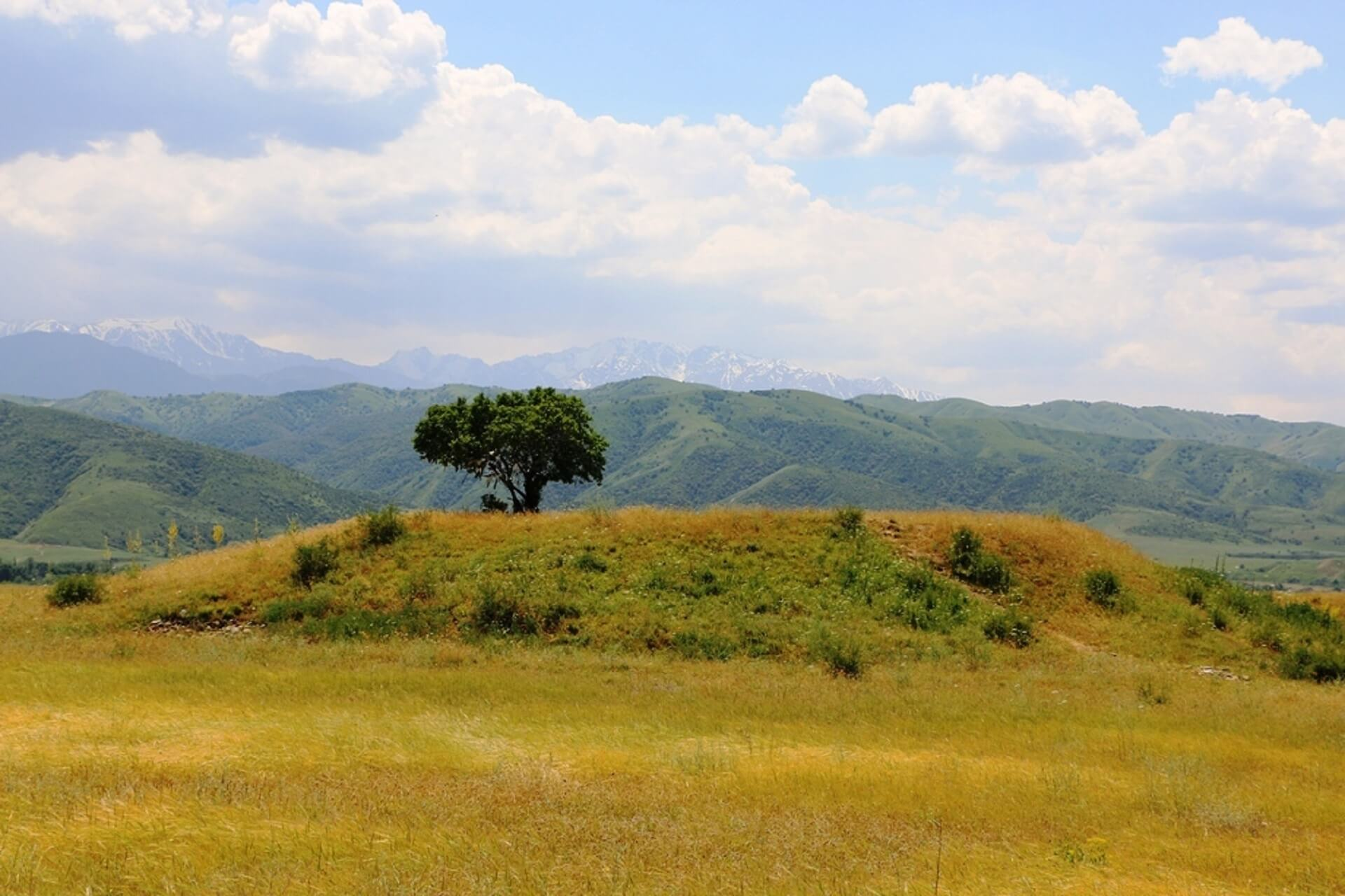 The mound Issyk, Turgen gorge and Plateau Assy